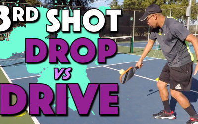 3rd Shot Drop vs Drive | What to hit as your 3rd shot in pickleball