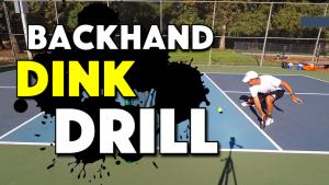 Pickleball Backhand Dink Drill