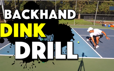 Pickleball Backhand Dink Drill