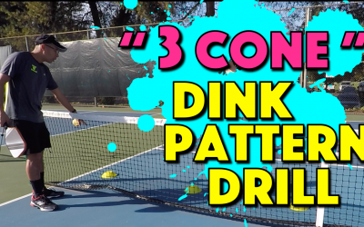 """3 Cone"" Dink Pattern Drill"