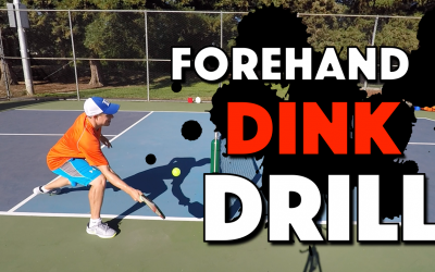 Pickleball Forehand Dink Drill