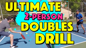 Ultimate 2-Person Pickleball Doubles Drill | How to work on your doubles game with only 2 people