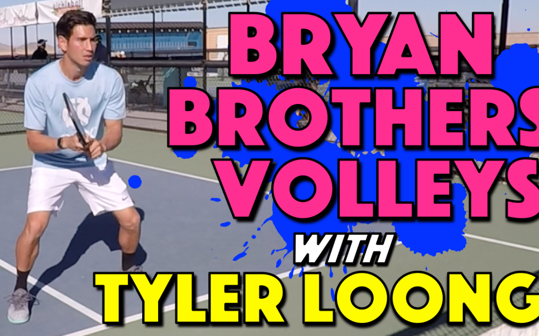Bryan Brothers Volleys with Tyler Loong | Tennis champions volley drill adapted for pickleball