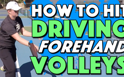 How To Hit Deep Driving Forehand Volleys | Keeping your opponents back at the baseline