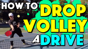 How To Hit A Drop Volley | A great shot option when you are facing bangers