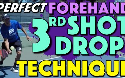 Forehand 3rd Shot Drop Technique | Key mechanics for a consistent 3rd shot drop
